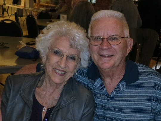 Ruthie and Norm Faith of Redding attend the Rivercity Jazz Society dance with Sister Swing on Feb. 19 at the Redding Elks Lodge.
