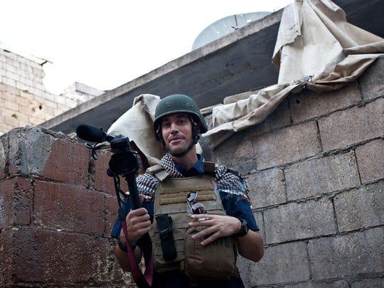 James Foley in Aleppo, Syria, November 2012. A photo courtesy of Nicole Tung.