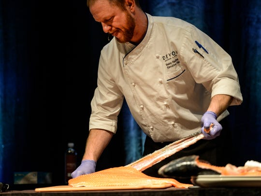 Chef Wesley Hellberg, executive chef at Devon Seafood,