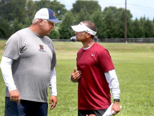 Blackman coach David Watson, left, and Riverdale coach