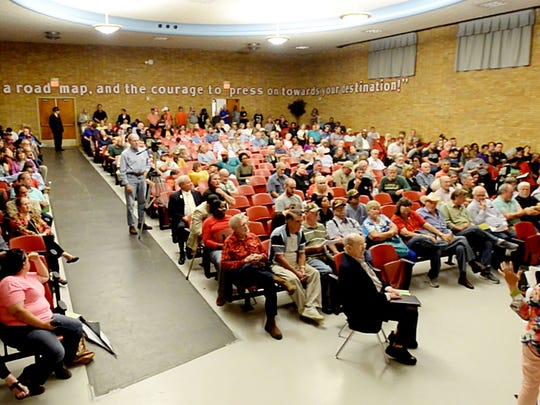 Residents speak at the last of four public hearings
