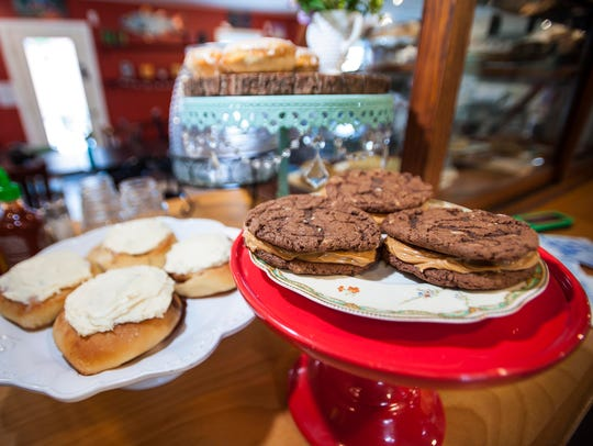 Mint magic and peanut butter cookies at the Stowe Street