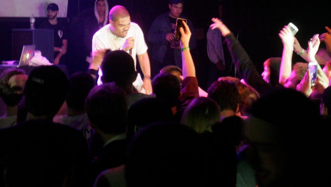 Chance the Rapper's younger brother Taylor Bennett lip-synced for much of his show at the Miramar Theatre on Saturday.