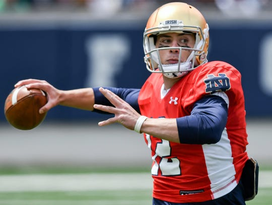 Ian Book is entrenched as Notre Dame's backup QB.