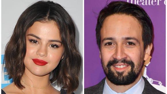 Selena Gomez and Lin-Manuel Miranda