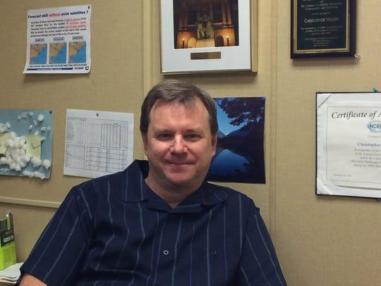 Chris Velden, senior scientist in the Tropical Cyclone