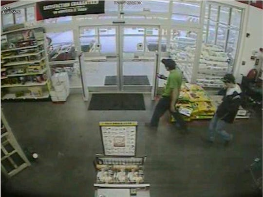 """The Vermont State Police say the two men pictured in this photo at Tractor Supply in Swanton shortly before a chemical spill Thursday """"may have been witnesses to the incident and were seen leaving the store just prior to the incident."""""""