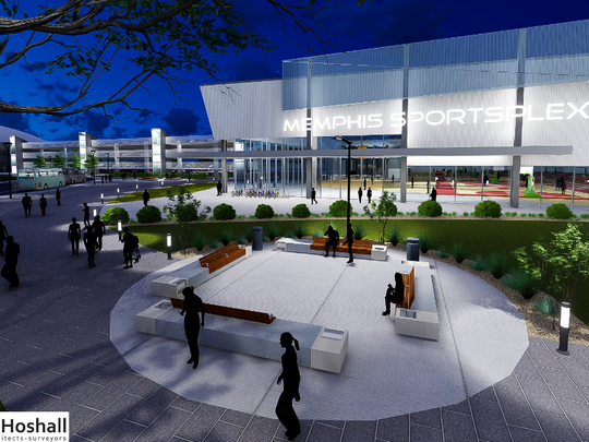 A rendering of a planned Memphis SportsPlex on the