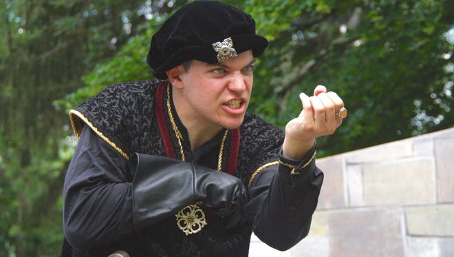 "Daniel Wisniewski stars as the troubled king in the Ithaca Shakespeare Company's production of ""Richard III."""