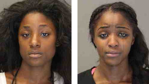Kayla Sheppard, left, 19, and Quanasia Harvey-White, 18.