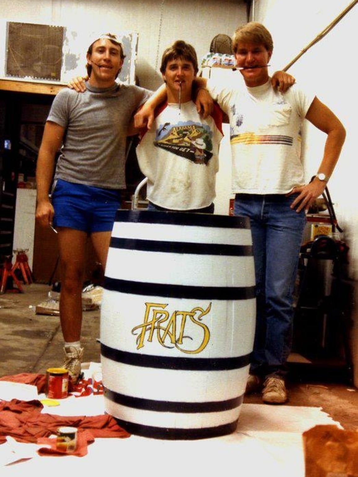 "A barrel ""refurbished"" into a milk keg by Frater Sodalis"