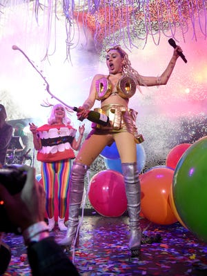 Miley Cyrus performs onstage at Terminal 5 on Nov. 28 in New York.
