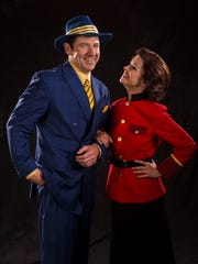 """Brian Vaughn plays Sky Masterson and Alexandra Zorn plays Sarah Brown in the Utah Shakespeare Festival's 2017 production of """"Guys and Dolls."""""""
