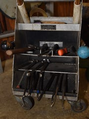 A view of some of the tools used by Elke Albrecht,