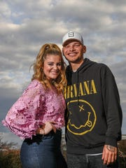 Lauren Alaina and Kane Brown pose for a portrait at the BMI headquarters in Nashville on Feb. 20, 2018.