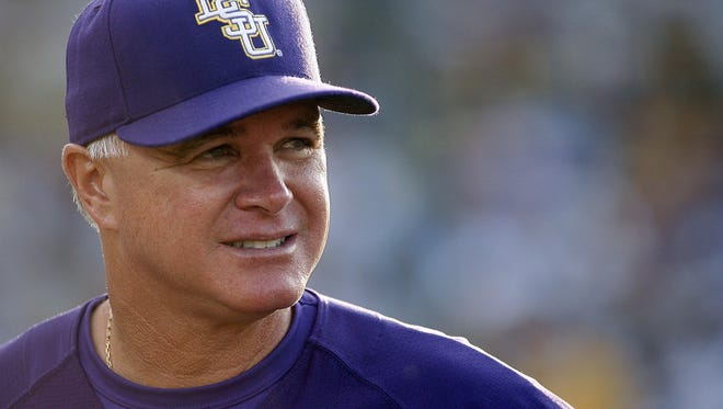 LSU baseball coach Paul Mainieri's Tigers will visit Tigue Moore Field at Russo Park in Lafayette on March 7, 2018.