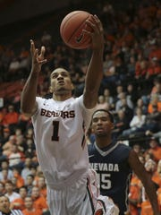 Oregon State senior guard Gary Payton II leads the Beavers in scoring, rebounds, assists and steals.