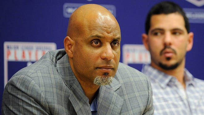 Ex-Tiger Tony Clark, the head of the MLB Players Association, met with Tigers' players Monday.