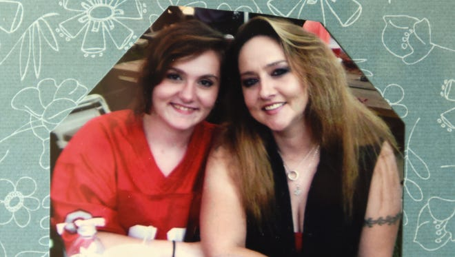 Alicia Casto, left, and her mother Angie in a family picture. Both struggled with heroin addiction and Angie died of an overdose in February.