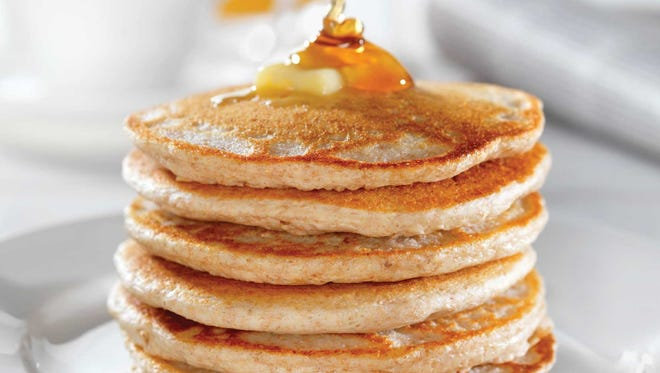 Pancakes with maple syrup.
