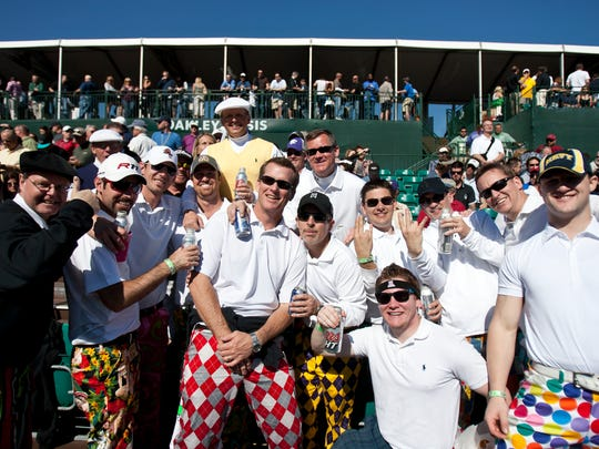 Friday, Feb. 3, 2012 - The Loudmouth Pants Crew show off their John Daly Apparel Pants at the 16th hole.