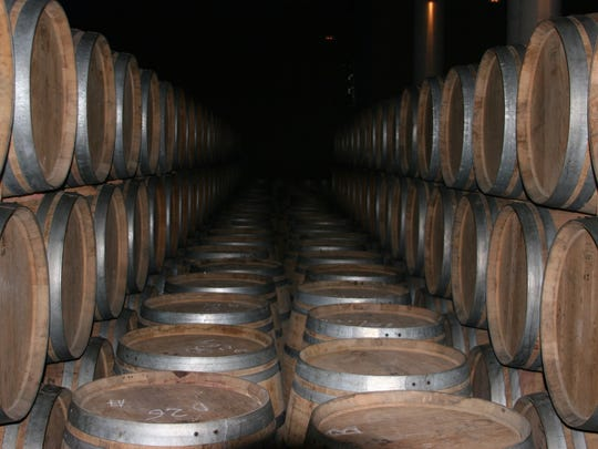 The barrel rooms are vast at Finca Allende in the Rioja wine region of Spain.