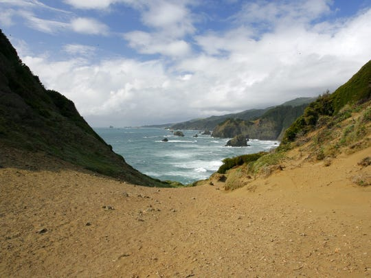 Samuel H. Boardman State Scenic Corridor features some of the most dramatic views on Oregon's South Coast. Seen here are the Indian Sands.