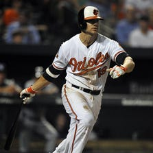 Orioles third baseman Chris Davis  bats in the seventh inning against the Tampa Bay Rays at Oriole Park at Camden Yards.