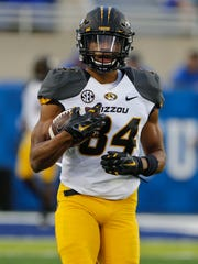 Missouri Tigers wide receiver Emanuel Hall (84) played