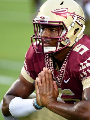 Florida State Seminoles quarterback Jameis Winston will miss the first half of Saturday's game against Clemson.