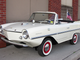 1968 Amphicar 770 convertible: This rear-engine car can reach 70 mph on land and can drive in water at 7 mph, moved by twin nylon propellers. The front wheels act as the rudder.