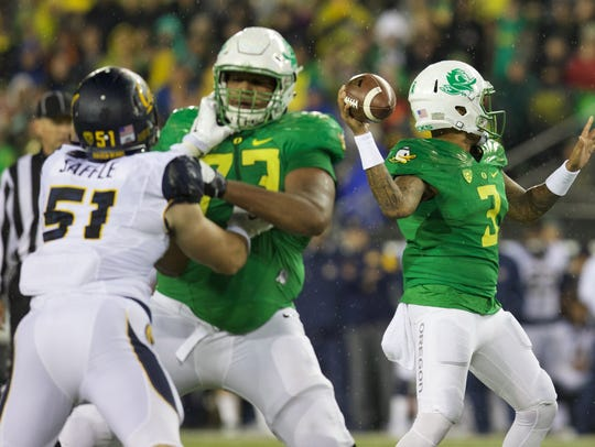 OT Tyrell Crosby, Oregon.