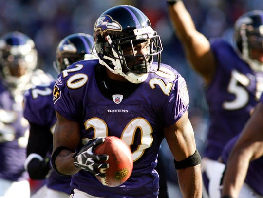 Ed Reed owns the record for longest interception return