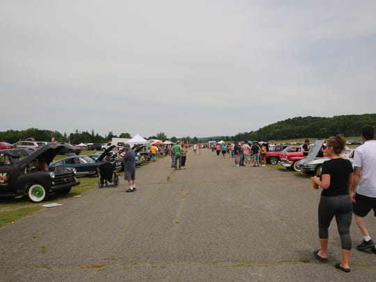 People wander around the second annual Stormville Airport