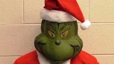 The Grinch was arrested by OPSO deputies Thursday