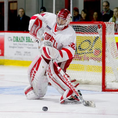 Cornell sophomore Mitch Gillam is one of 59 men's players across the nation nominated as candidates for the Hobey Baker Award, given annually to the top player in Division I hockey.