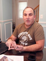 South Nyack resident Jeffrey Hirsch discusses the future plans being released for the Raymond Esposito Memorial Trail in South Nyack on Wednesday, January 4, 2017.