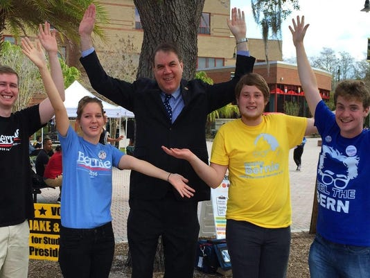 Alan Grayson with Knights for Bernie