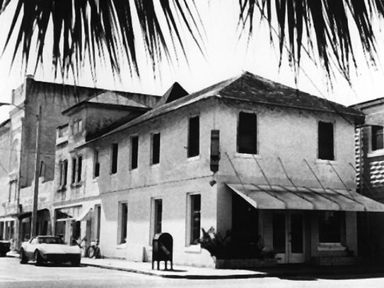 A view of the former Stuart bank building in the 1960s.