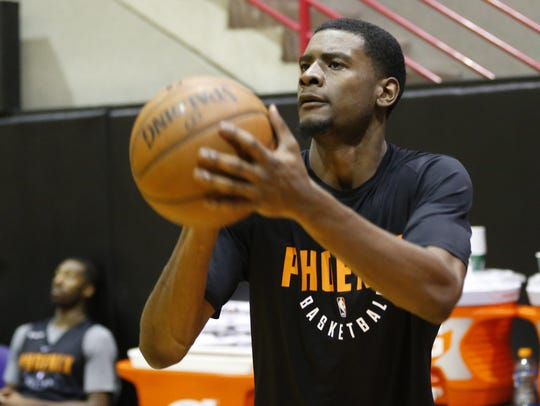 Phoenix Suns guard Josh Jackson shoots during Summer