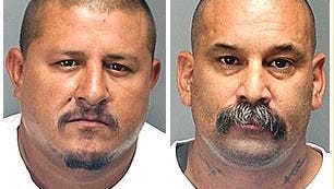 Jorge Tapia (left) and Andrew Ponce are accused of beating a man into a coma at a Cathedral City bar.