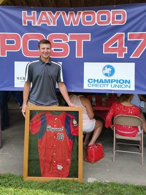 Haywood County Post 47 has retired Smoky Mountain graduate Cal Raleigh's No. 10 jersey.