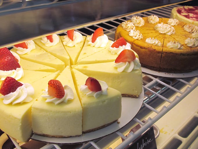 Cheesecakes are among the many desserts and pastries