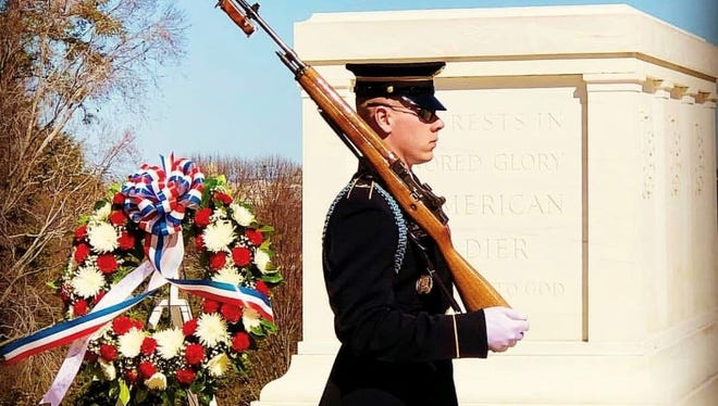 Windsor graduate Pfc. Jeffrey Colwell is now a Tomb Sentinel stationed in Virginia.