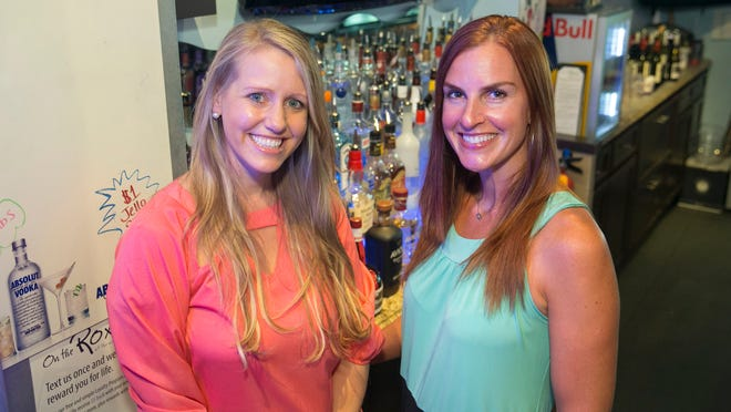 Heather Frechette, right, and Elizabeth Hunt, left, who own On the Roxx, plan to open a new bar this summer on Augusta Road.