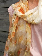 eco dyed scarf