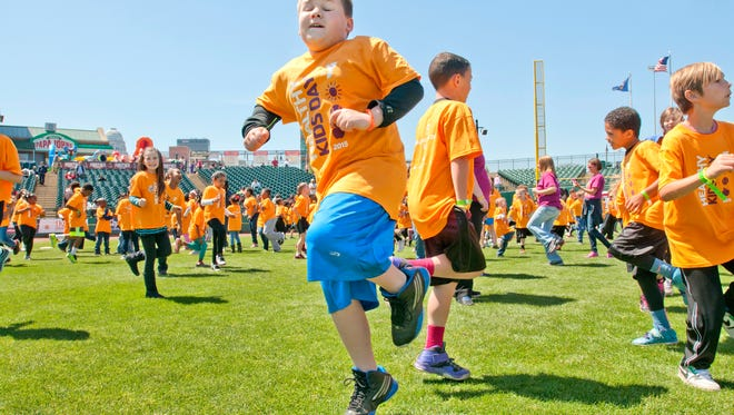 Kids set a record in April at Louisville Slugger Field.