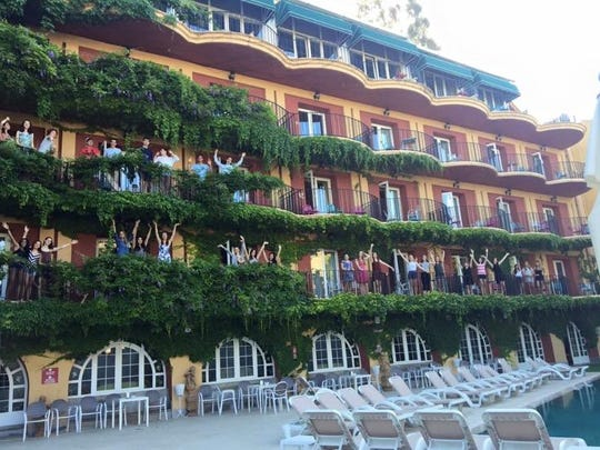 Our group of 35 stayed at the Hotel Los Angeles in the hills of Granada.