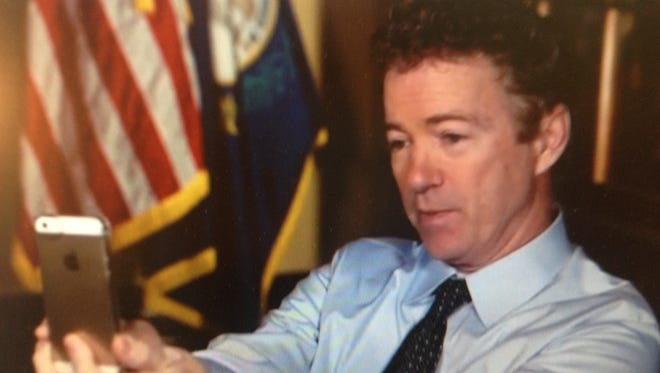 Sen. Rand Paul, R-Ky., does Snapchat interview with CNN.
