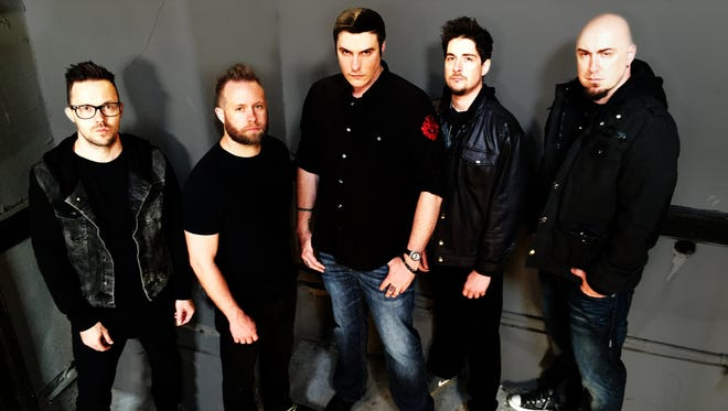 Breaking Benjamin, from left: Keith Wallen, Jasen Rauch, Benjamin Burnley, Shaun Foist and Aaron Bruch.